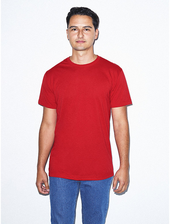 Unisex Poly-Cotton Short Sleeve Crew Neck