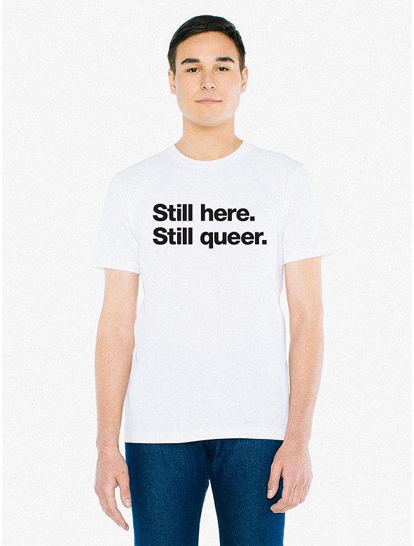 Still Here Print 50/50 T-Shirt