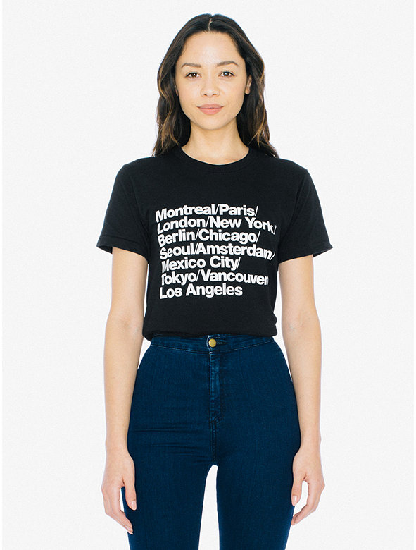 Unisex Cities Print 50/50 T-Shirt