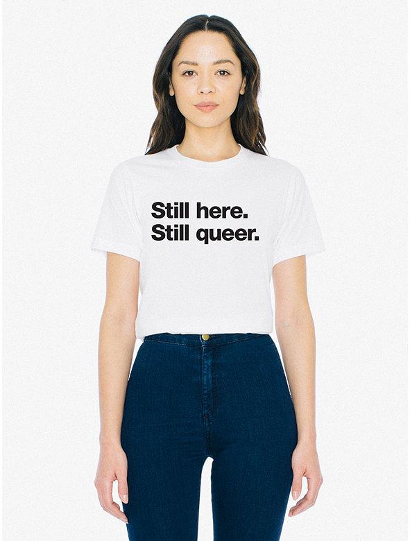 Unisex Still Here Print 50/50 T-Shirt