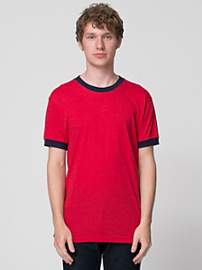 Poly-Cotton Short Sleeve Ringer T -Shirt