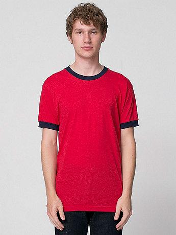 Poly-Cotton Short Sleeve Ringer T -Shirt