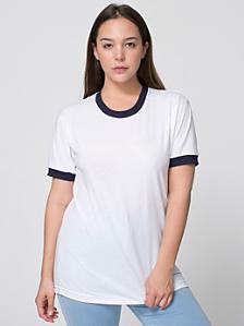Unisex Poly-Cotton Short Sleeve Ringer T -Shirt