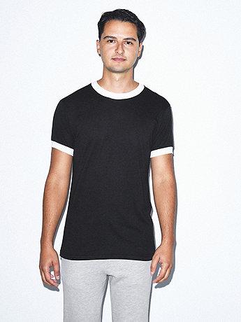 Unisex Poly-Cotton Short Sleeve Ringer T-Shirt