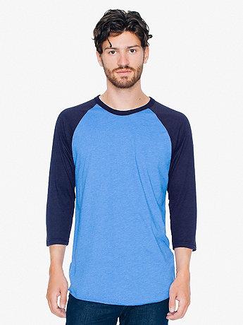 Poly-Cotton 3/4 Sleeve Raglan Shirt