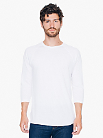 Poly-Cotton 3/4 Sleeve Raglan Shirt