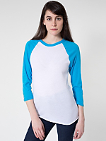 Unisex Neon Poly-Cotton 3/4 Sleeve Raglan Shirt