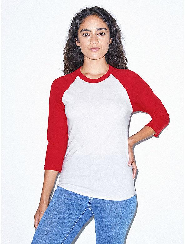 Unisex 50/50 Raglan 3/4 Sleeve T-Shirt