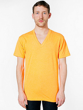 Poly-Cotton Short Sleeve V-Neck
