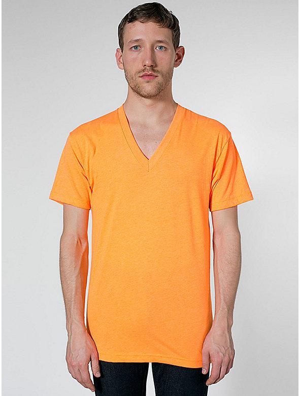 Poly-Cotton Short Sleeve V-Neck