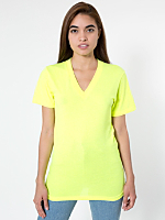 Unisex Poly-Cotton Short Sleeve V-Neck