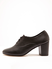 High Heel Bobby Leather Lace-Up Shoe