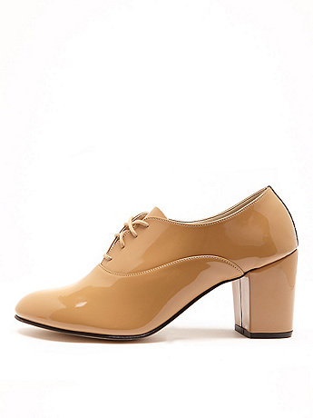 High Heel Bobby Patent Lace-Up Shoe