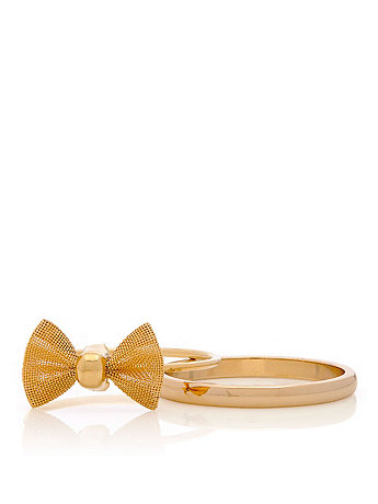 Stacking Bow Two Ring Set