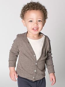 Infant Tri-Blend Rib Cardigan