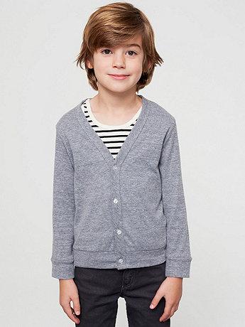 Kids' Tri-Blend Rib Cardigan