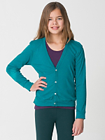Youth Tri-Blend Rib Cardigan