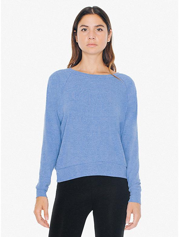 Lightweight Tri-Blend Raglan Pullover Sweatshirt