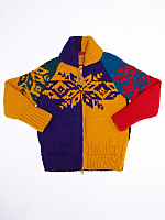 Color Block Snowflake Canadian Sweater