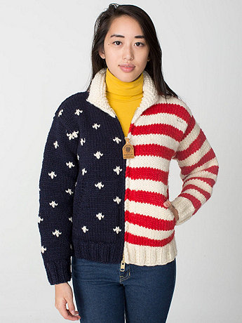 Unisex US Flag Canadian Sweater