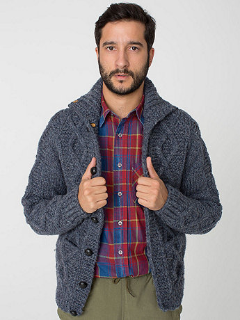 Cable Knit Button Canadian Sweater