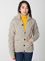 Unisex Cable Knit Button Canadian Sweater