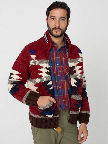 Geo Zip Canadian Sweater