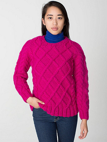 Unisex Cable Knit Canadian Sweater