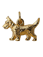 14Kt Gold Plated Charm - Charlie The Dog