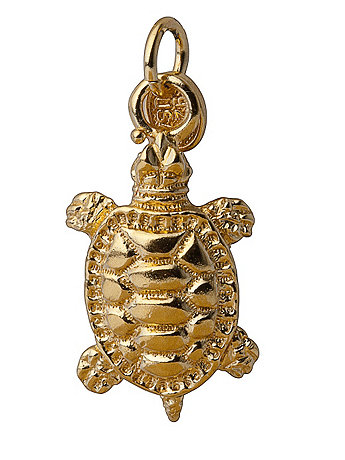 14Kt Gold Plated Charm - Albert The Turtle