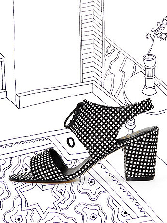Nathalie Du Pasquier Print Pia Canvas Cleo Cut Out Heel