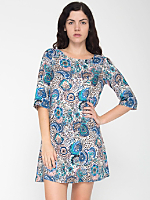 California Select Original Abstract Paisley Tent Dress