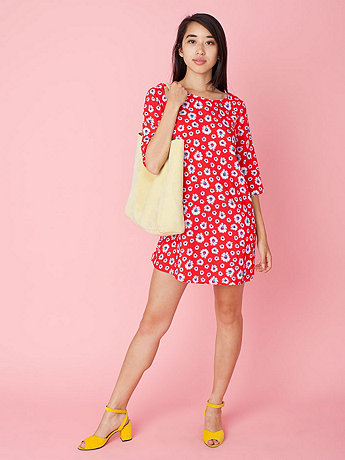 California Select Originals Red Daisy Tent Dress