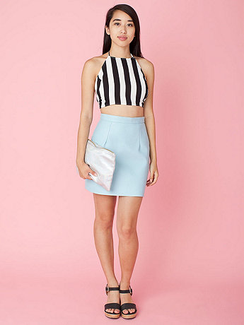 California Select Originals Striped Halter Top