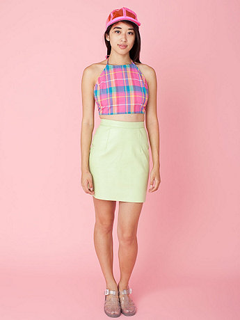 California Select Originals Madras Halter Top