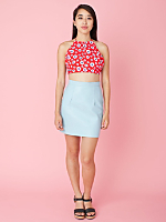 California Select Originals Red Daisy Halter Top