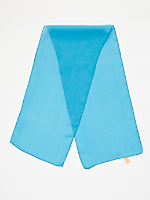 Vintage Blue Long Sheer Rayon Scarf