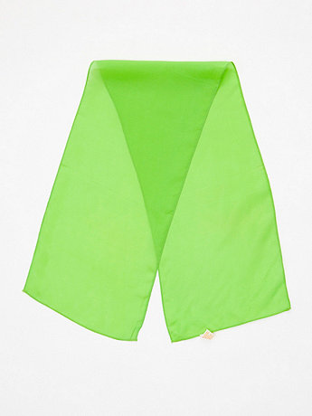 Vintage Lime Long Sheer Rayon Scarf