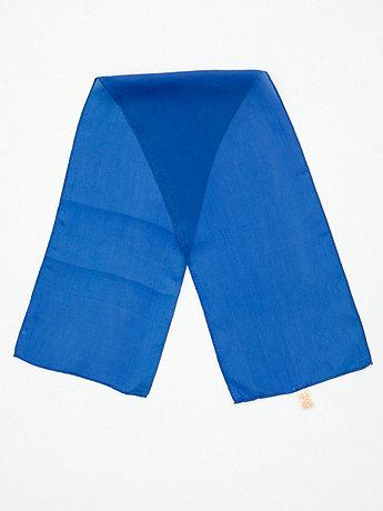Vintage Royal Blue Long Sheer Rayon Scarf