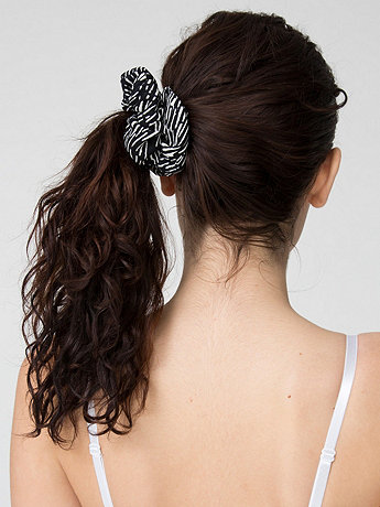 California Select Originals Scratch Print Rayon Scrunchie