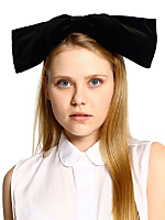 California Select Original Velvet Oversized Bow Headband