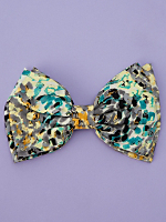 California Select Original Abstract Print Oversized Bow Hair Clip