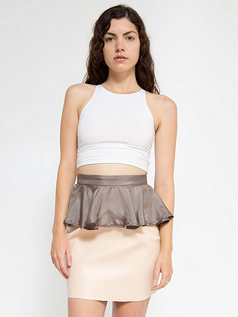 California Select Originals Grey Silk Peplum