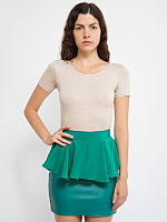 California Select Original Green Silk Peplum