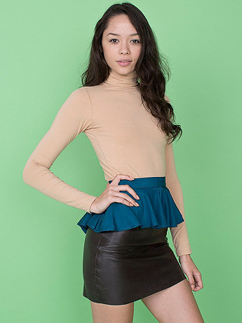 California Select Originals Teal Silk Peplum
