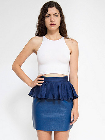 California Select Originals Navy Silk Peplum