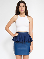 California Select Original Navy Silk Peplum