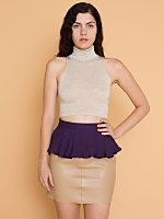 California Select Original Purple Silk Peplum