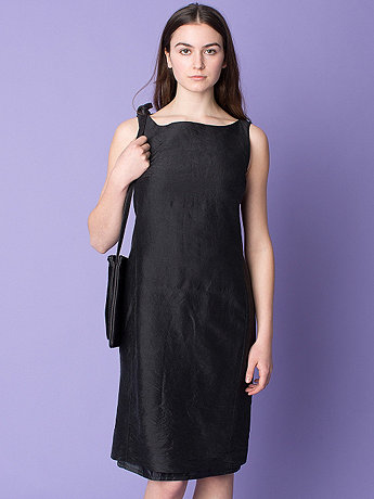 Vintage Sleeveless Silk Shift Dress