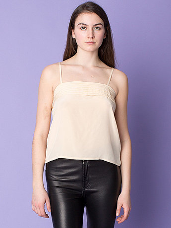 Vintage Pleated Silk Tank